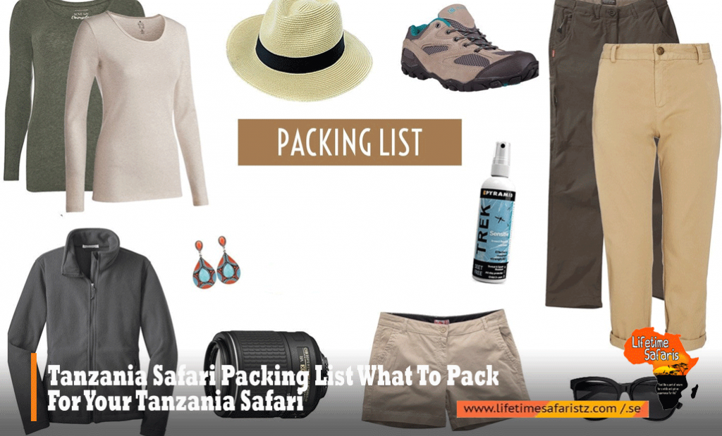 Tanzania Safari Packing List