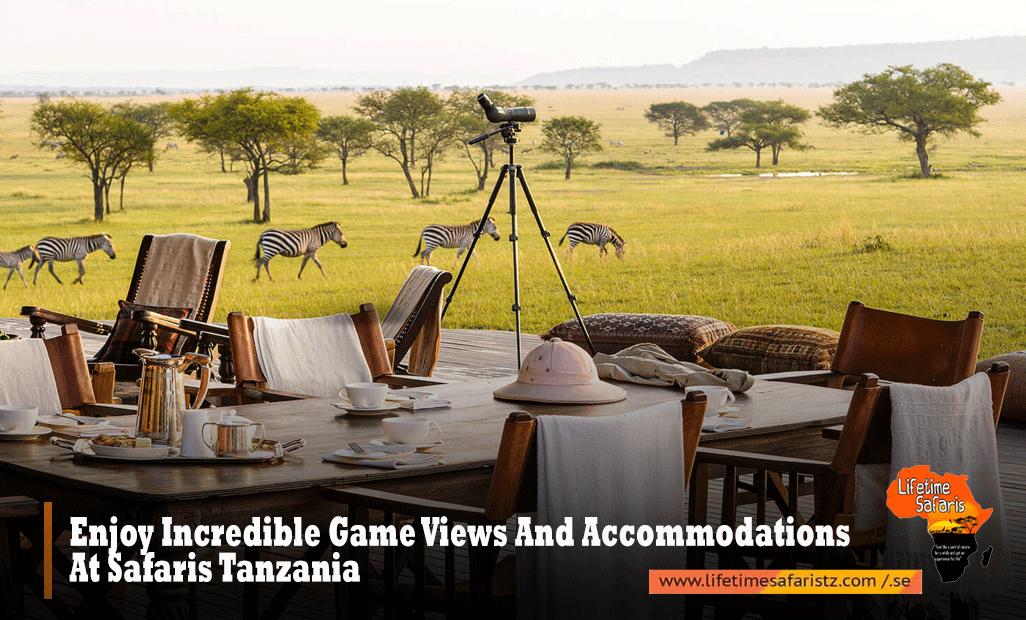 Enjoy Incredible Game Views And Accommodations At Safaris Tanzania